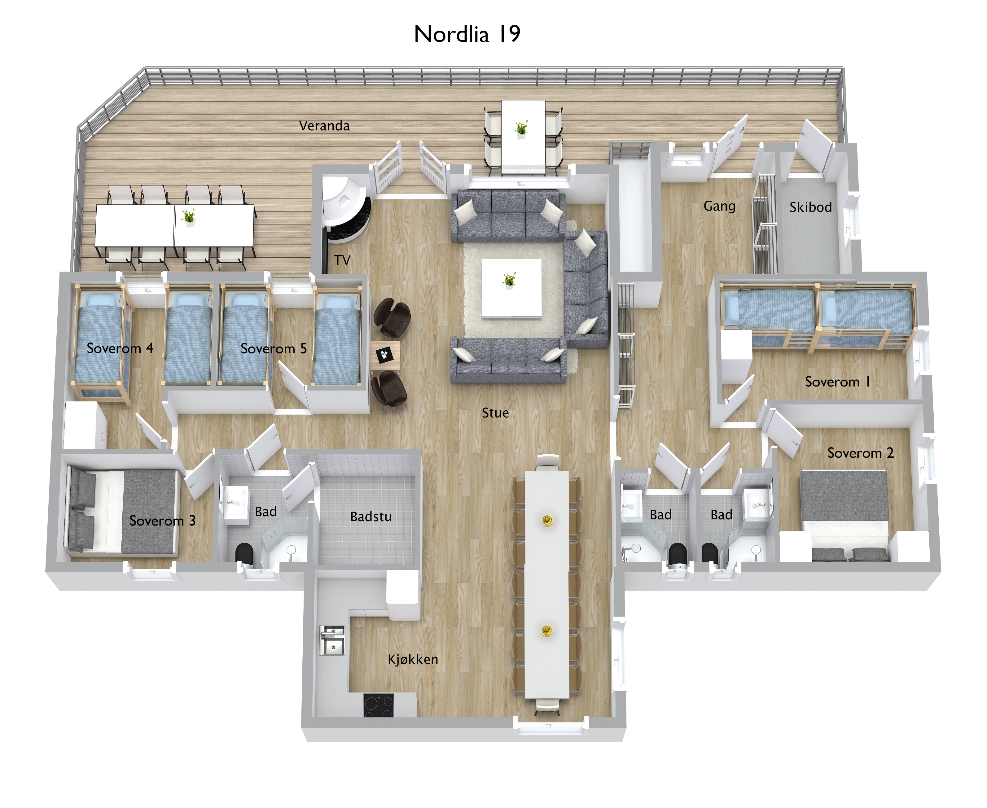 Nordlia 19 3D Floor Plan
